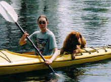 Jenny and Charley, kayaking pals